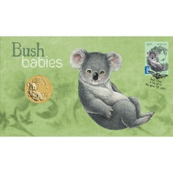 2011 50c Bush Babies Koala Coin & Stamp Cover PNC