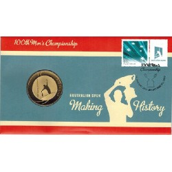 2012 $5 Australian Open 100th Mens Champion Coin & Stamp Cover PNC
