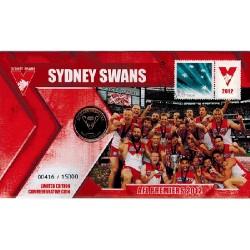 2012 $1 AFL Premiers Sydney Swans Coin & Stamp Cover PNC