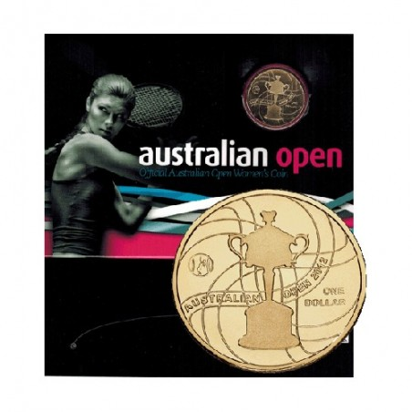2012 $1 Australian Open Womens Champsionship Unc Coin in Card