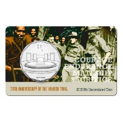 2012 50c 70th Anniversary of the Kokoda Trail Unc Coin in Card