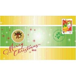 2012 $1 Christmas Coin & Stamp Cover PNC