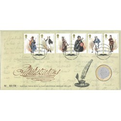 2012 GB L2 Charles Dickens Coin & Stamp Cover PNC
