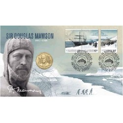 2012 $1 Sir Douglas Mawson Coin & Stamp Cover PNC
