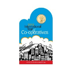 2012 $1 International Year of Co-Operatives Uncirculated Coin