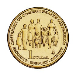 2009 $1 Centenary of Commonwealth Aged Pension Uncirculated Coin