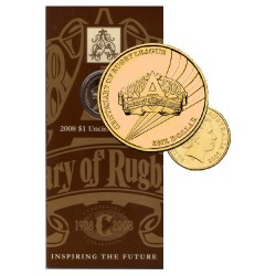 2008 $1 Centenary of Rugby League 1908 - 2008 Uncirculated Coin in Card