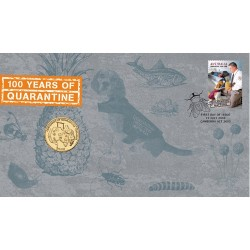 2008 $1 Quarantine Matter Coin & Stamp Cover PNC