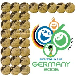 2006 Fifa World Cup 33 Medallion Set