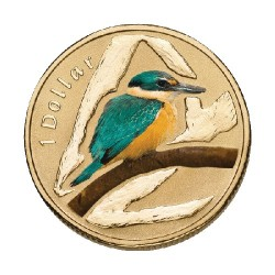2011 $1 Air Series - Sacred Kingfisher Unc Coin in Card